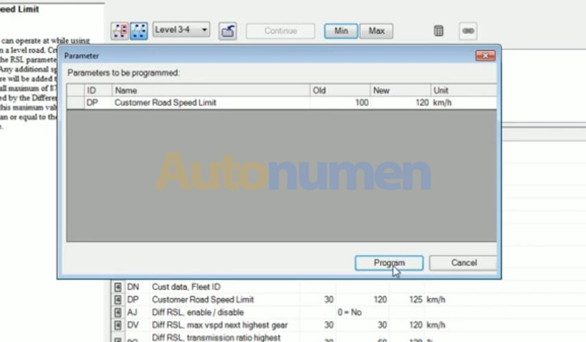 How to Change Speed Limit on Volvo Truck with Volvo 88890300 Vocom Interface PTT Software-7